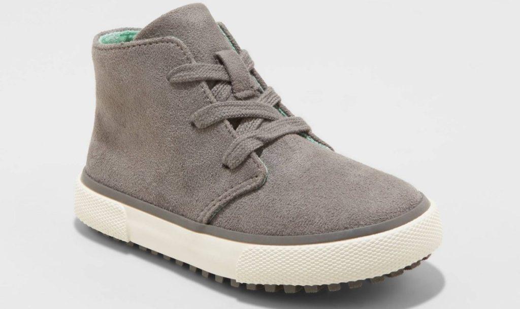 gray toddler boys boot