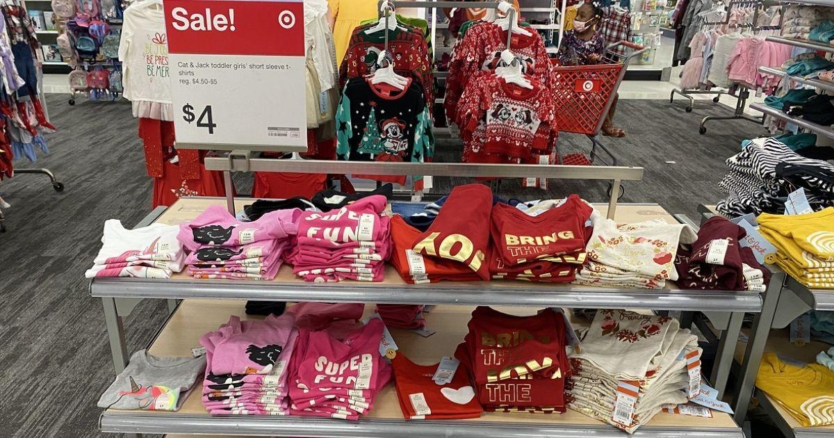 Cat & Jack Toddler Girls Shirts