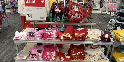 Cat & Jack Toddler & Kids Apparel from $4 at Target