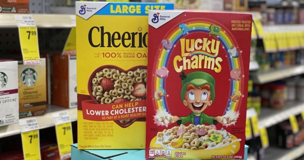 Cheerios and Lucky Charms at CVS