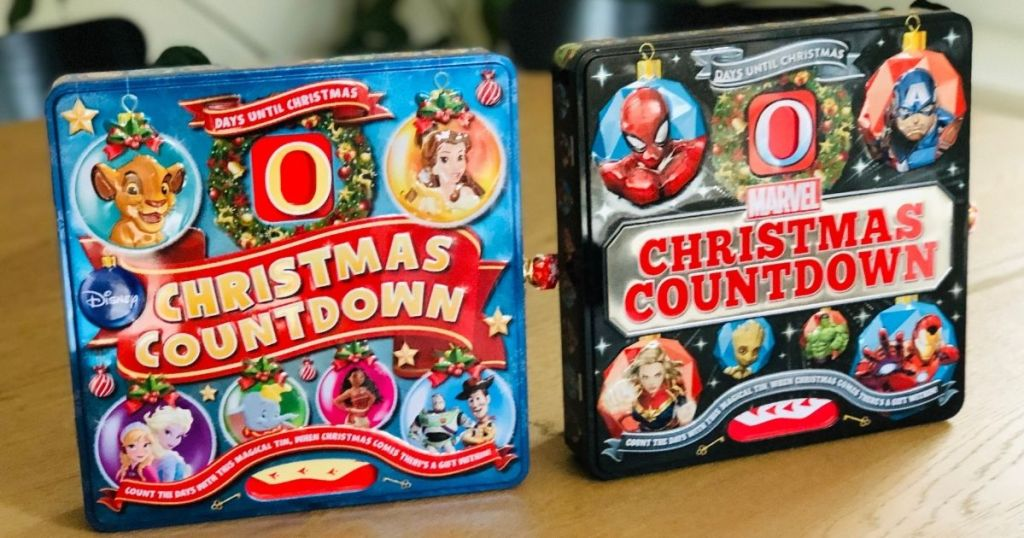 <div>TWO Christmas Countdown Tins Only .98 Shipped | Disney & Marvel</div>