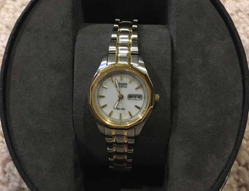 watch in a display box
