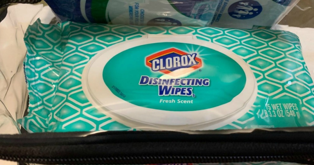 Large pack of disinfectant wipes