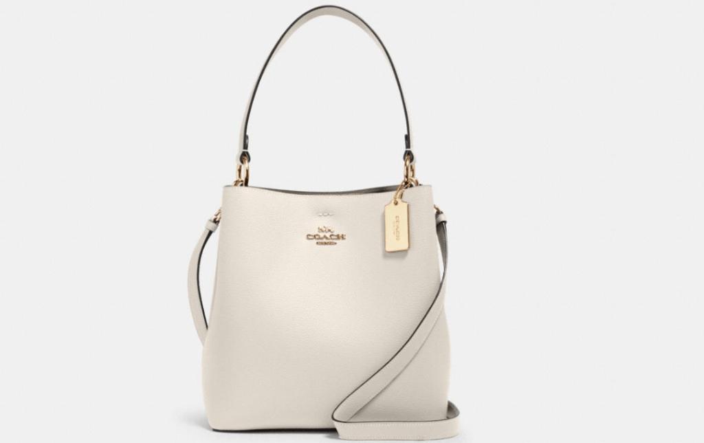 white coach bucket bag