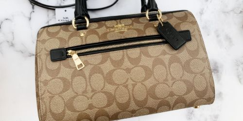 Coach Rowan Signature Satchel Only $98 Shipped (Regularly $328)