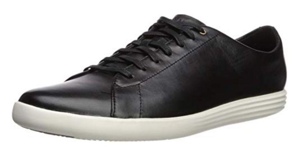 Cole Haan black leather sneaker