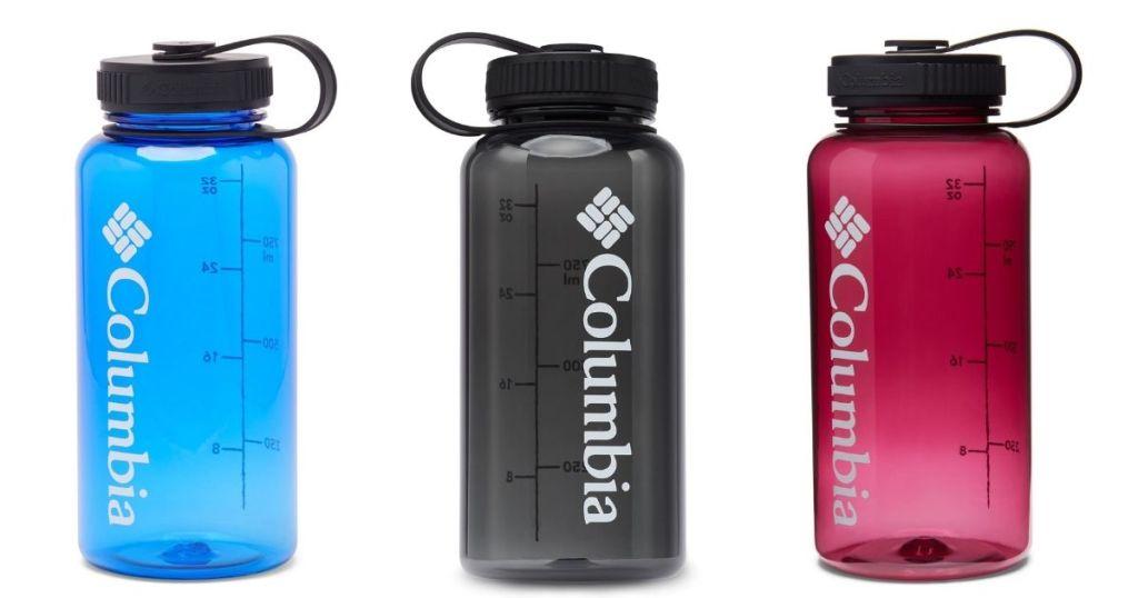 Three Columbia 32-oz Water Bottles