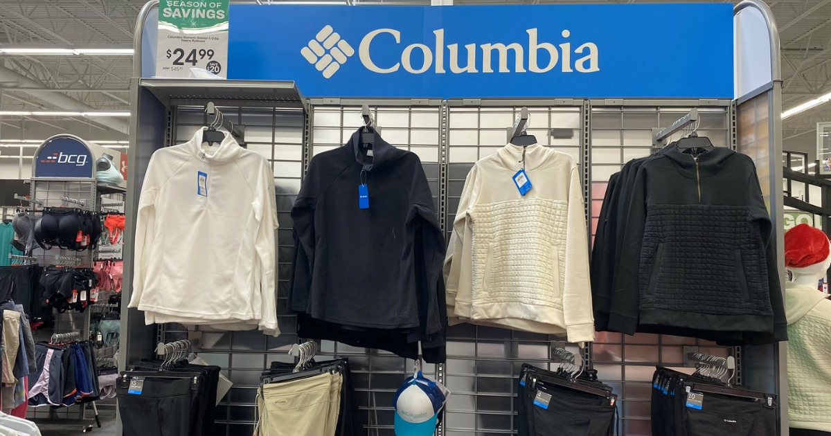 Columbia Apparel display in store