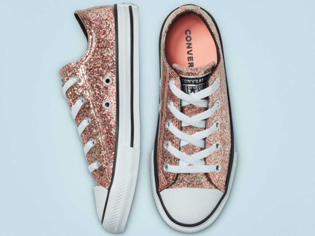 Converse Big Kid Coated Glitter Chuck Taylor All Star Sneakers
