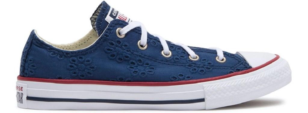 kids blue floral sneaker