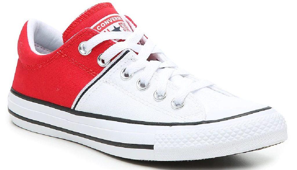sneaker blok warna putih dan merah