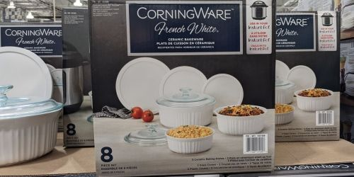 Corningware Ceramic Bakeware 8-Piece Set Only $19.99 at Costco | In-Store Only
