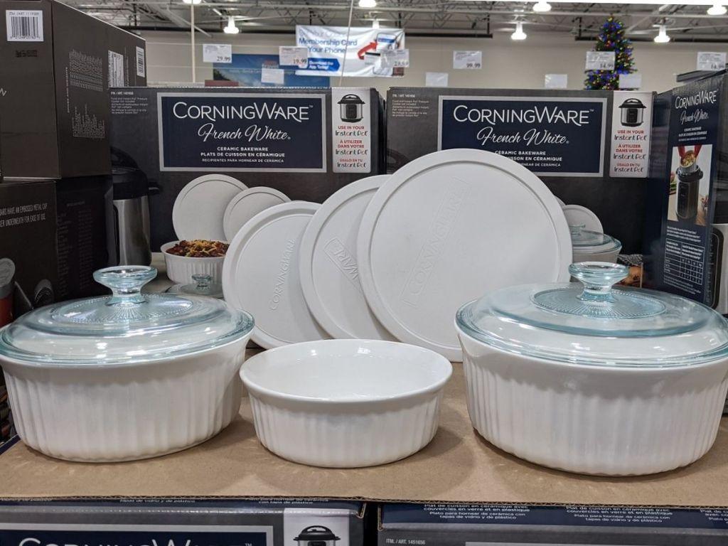 Corningware French White Ceramic Bakeware Set