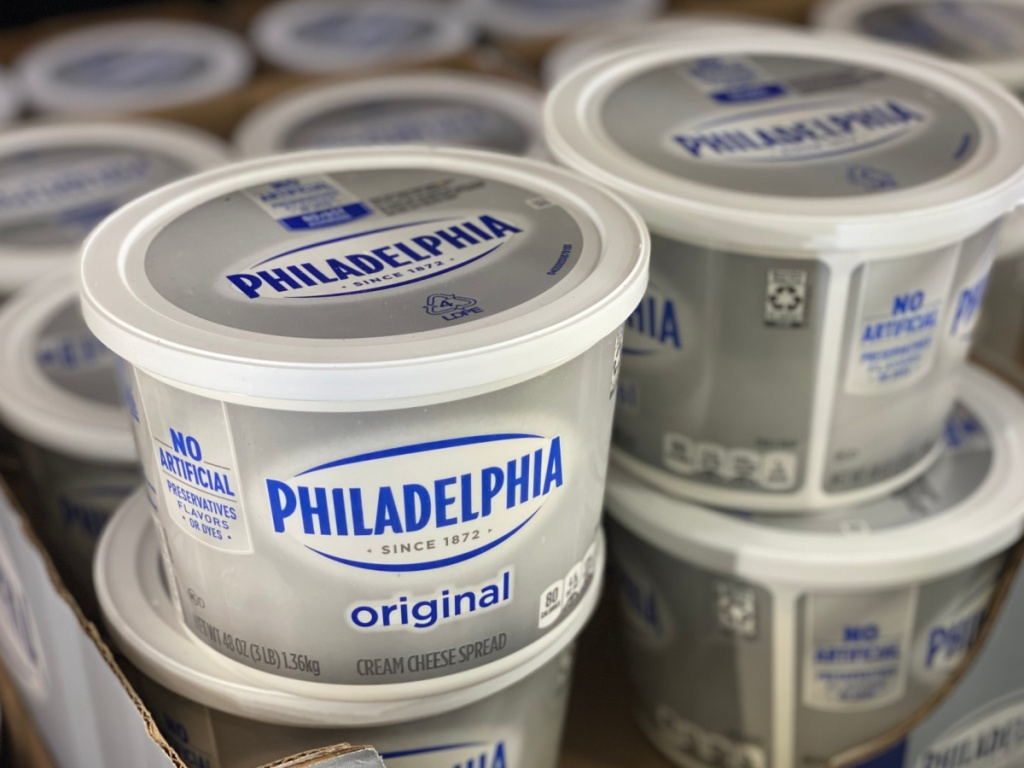 3 pound container of philadelphia cream cheese at costco