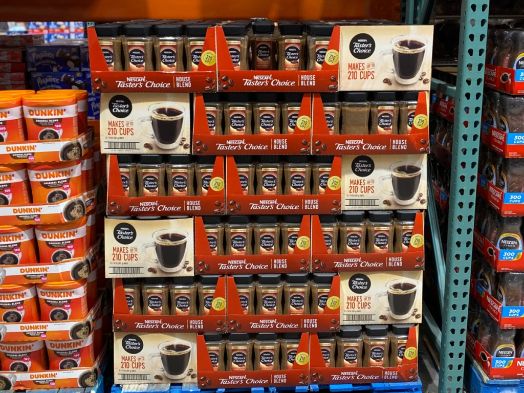 Tasters Choice Instant coffee jars at costco