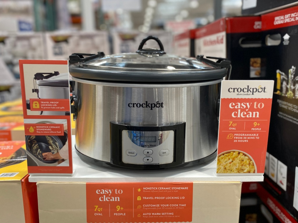 crock pot 7 quart easy clean slow cooker at costco