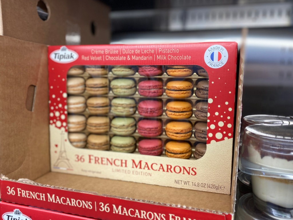 36 count package of french macarons at costco