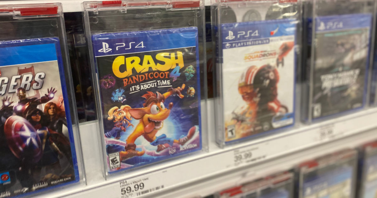 video games on shelf at Target