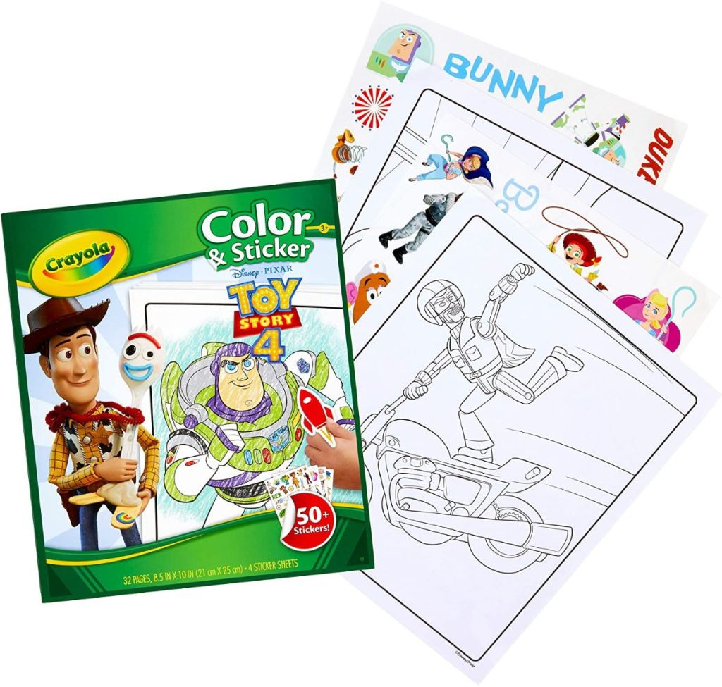 Crayola Color Wonder Toy Story set with coloring pages and stickers