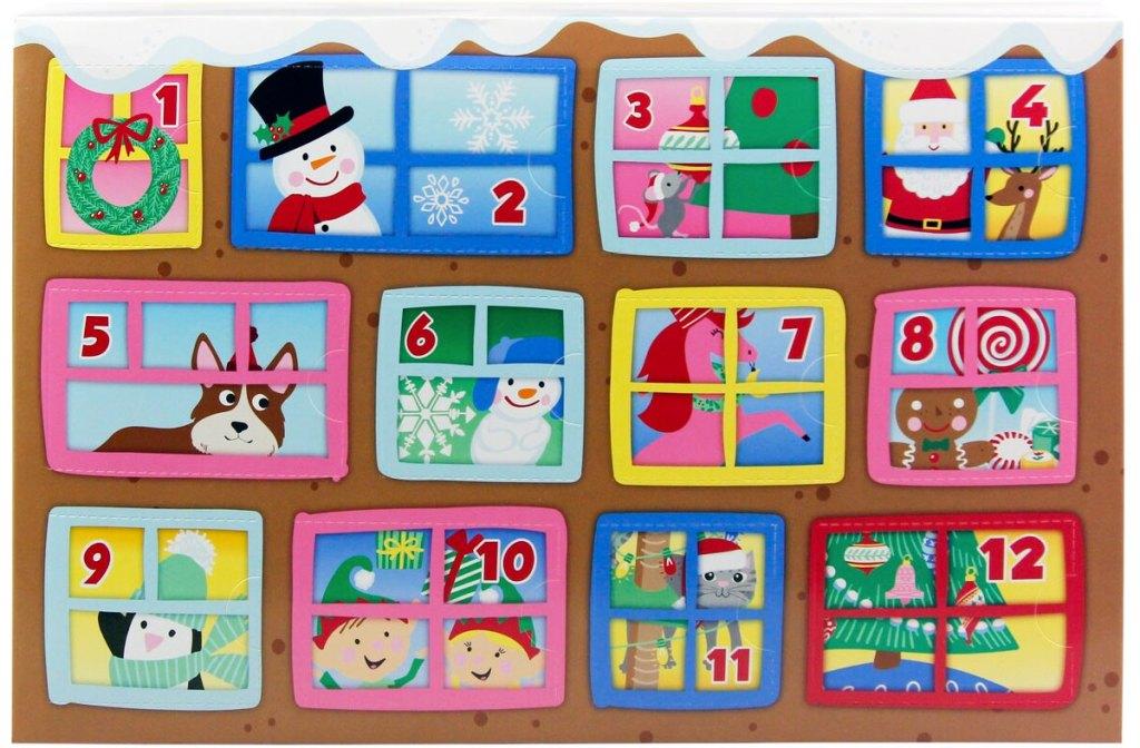 12 jendela bertema natal pada kit kerajinan tangan selama 12 hari