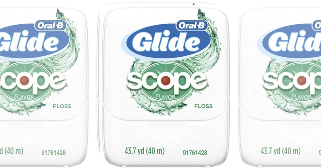 6 pack oral b glide scope dental floss