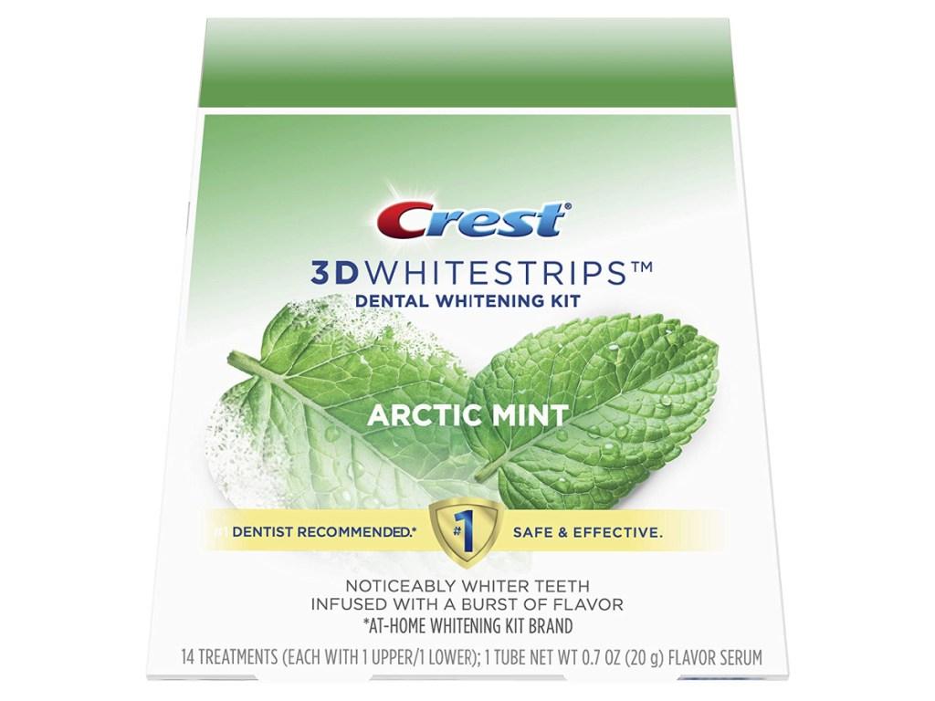 Crest 3D Whitestrips Box in Arctic Mint Flavor