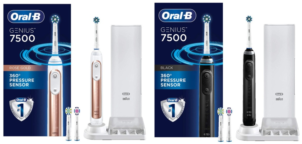 2 oral b 7500 electric toothbrushes