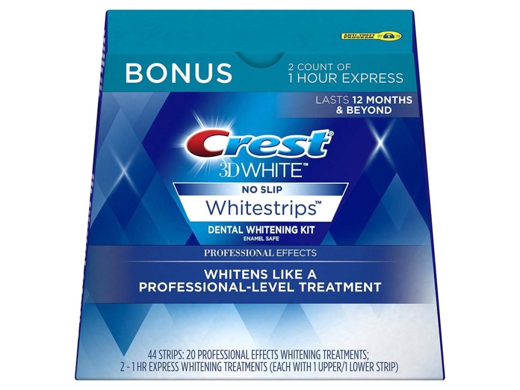 Crest 3D Whitestrips Box on Amazon