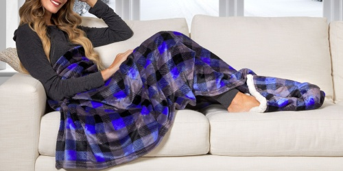 Cuddl Duds Oversized Throw w/ Sherpa Foot Pocket Only $9.97 on Walmart.com