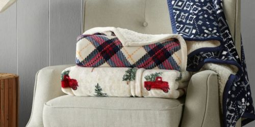 Cuddl Duds Plush Throw Blankets Only $16.99 on Kohls.com (Regularly $50) | Includes Holiday Designs