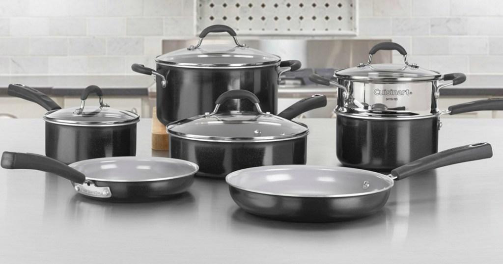 Large Cuisinart brand cookware set