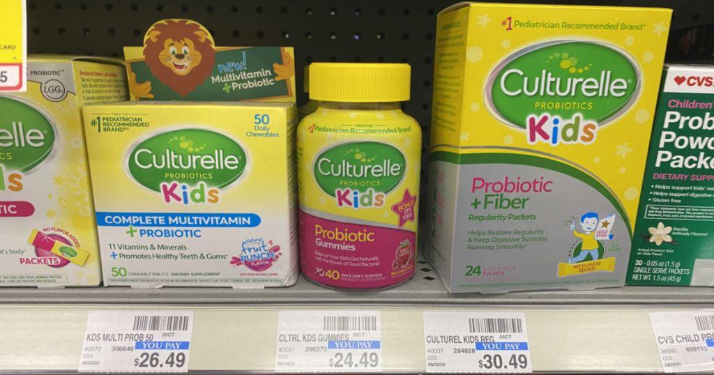 kids vitamins on shelf