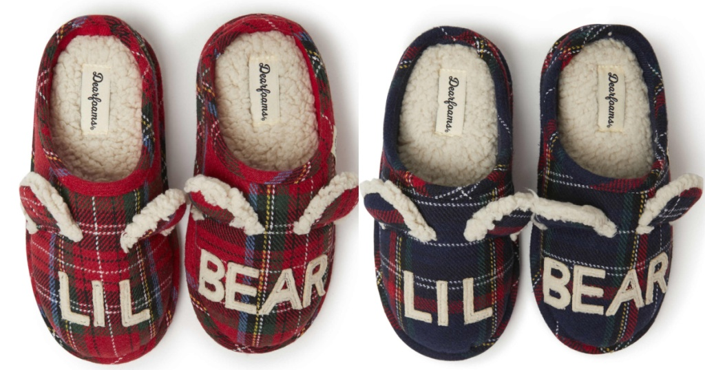 2 pairs of 'lil' bear' kids slippers