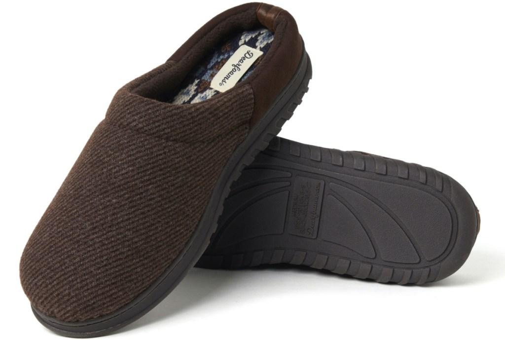mens brown slippers