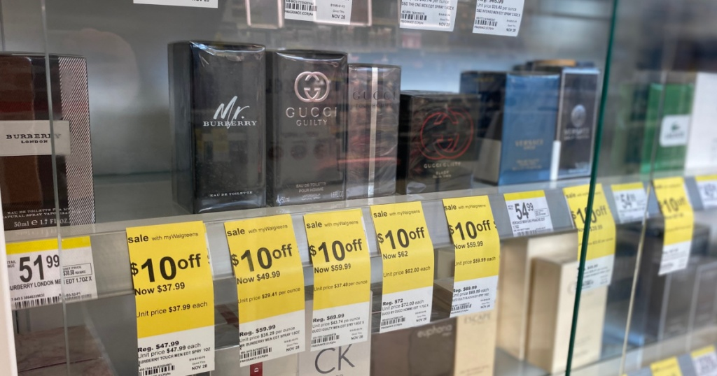 perfume on shelf