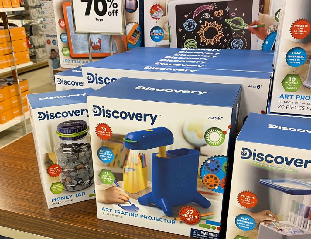 discovery kids art tracing projector on display table at belk