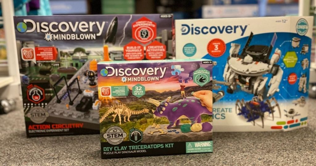 three Discovery Kids toy sets