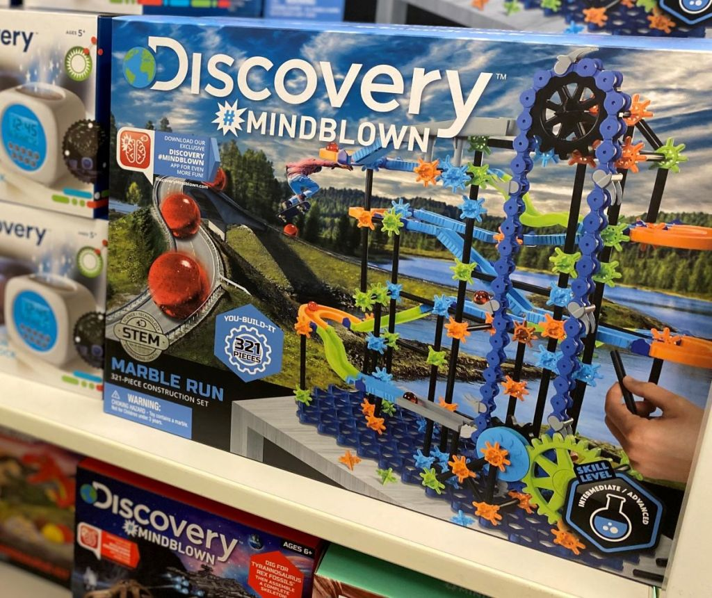 Discovery Mindblown Marble Run on a shelf at Kohl's