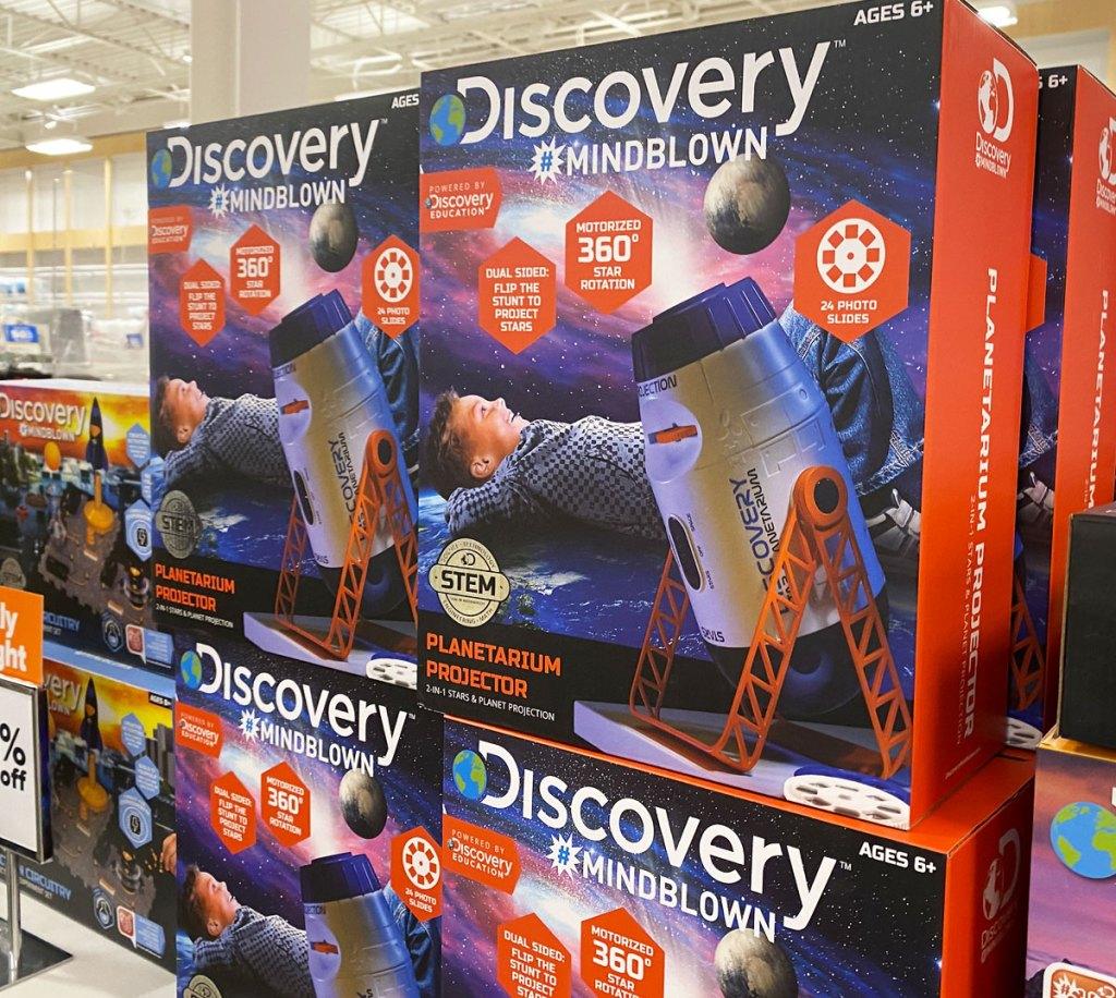 discovery kids planetarium projectors on display at belk
