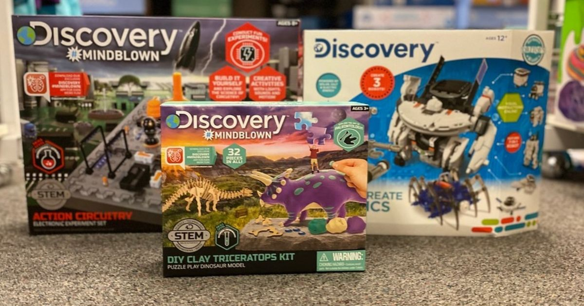 Discovery Mindblown sets on store floor