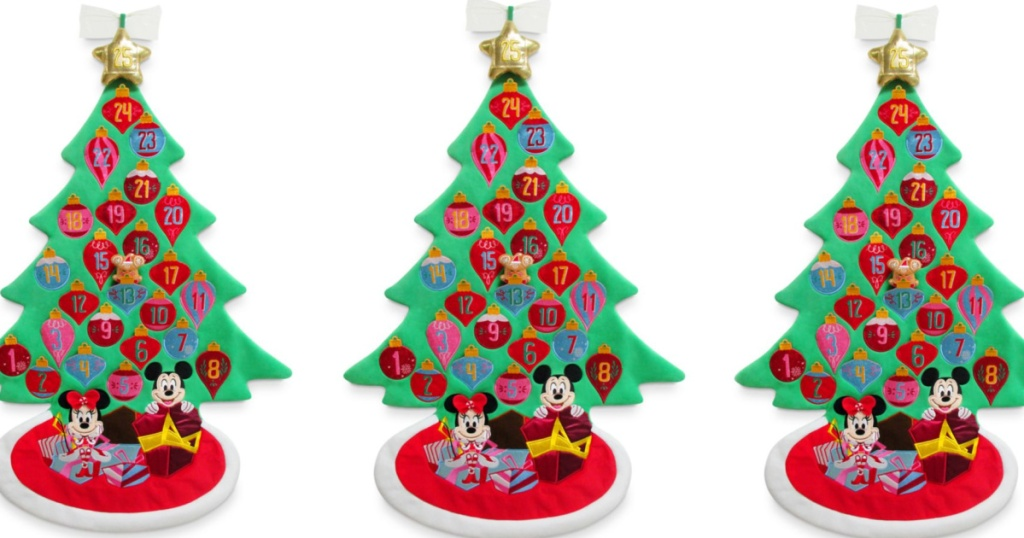 three mickey and minnie advent trees