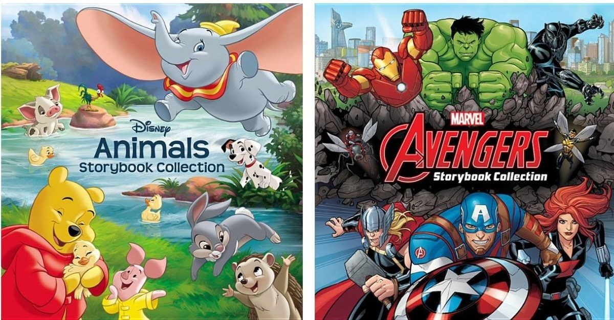 Disney Animals and Marvel Avengers Storybook Collection Books
