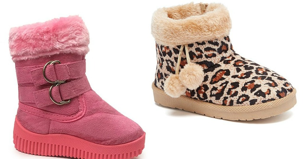 Double Buckle and Pom-Pom Booties on Zulily