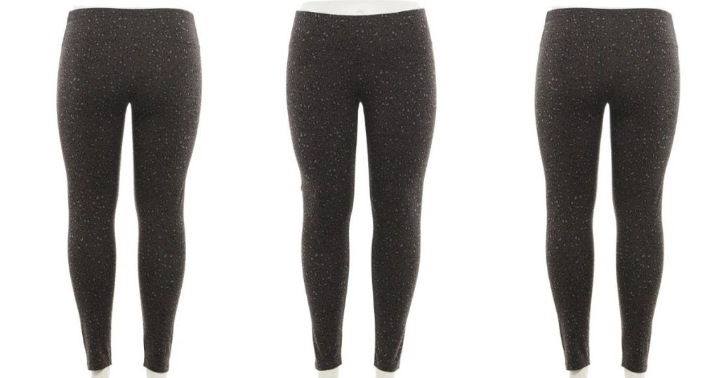 front and back of Kohl's leggings