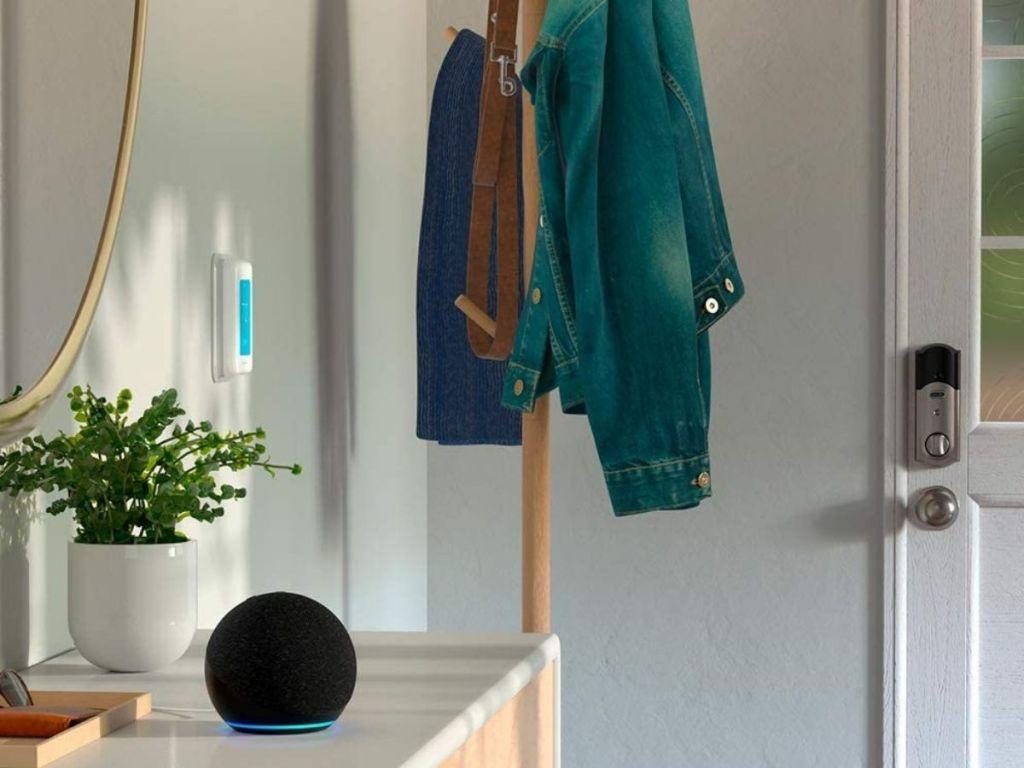 black amazon smart speaker