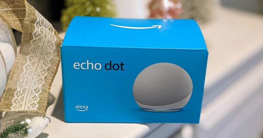 Echo Dot 4th gen on shelf