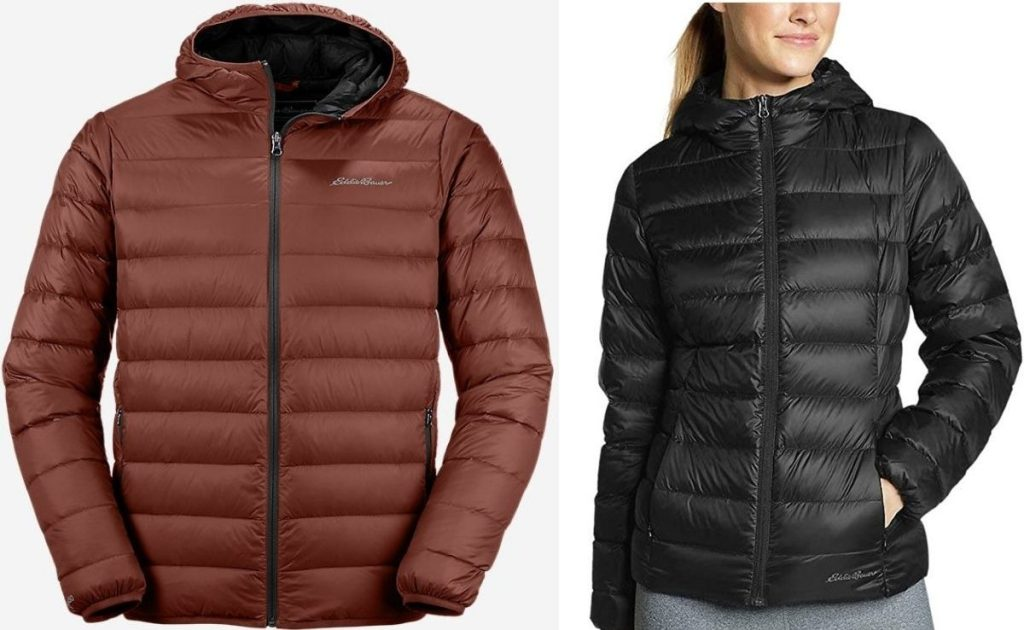 Eddie Bauer Mens and Womens Hooded Jackets