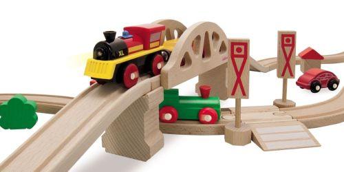 55-Piece Wooden Train Set Just $24.97 on Walmart.com | Includes Storage Wagon