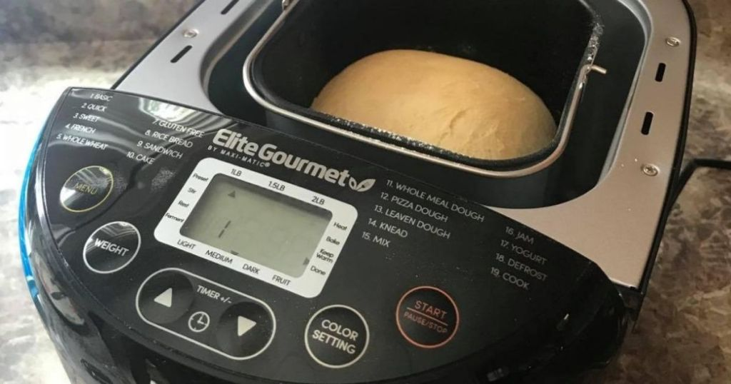 bread in a breadmaker