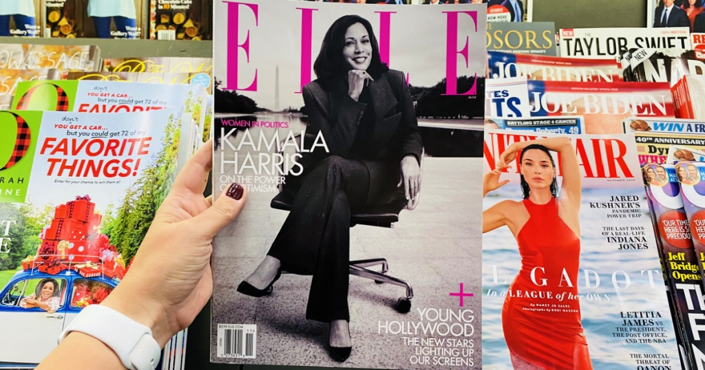 Elle magazine in woman's hand